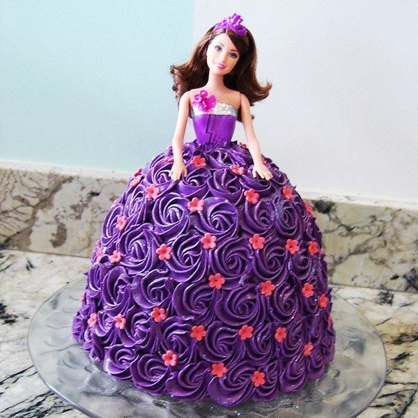 Groovy Barbie Doll Cake Order Cake Online With Free Home Delivery Birthday Cards Printable Opercafe Filternl